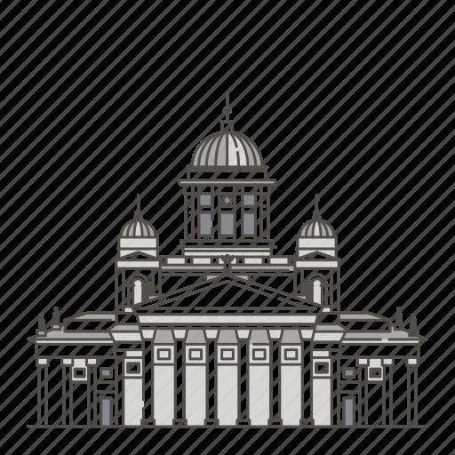 famous, helsinki, landmarks, senate, square, world icon