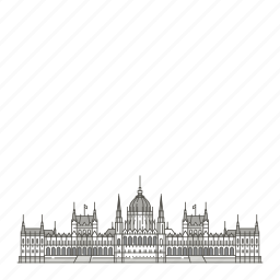 building, famous, hungarian, landmarks, parliament, world icon