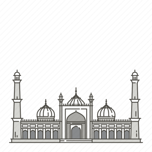 famous, jama, landmarks, masjid, world icon