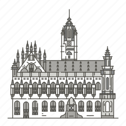 famous, landmarks, middelburg, stadhuis, world icon
