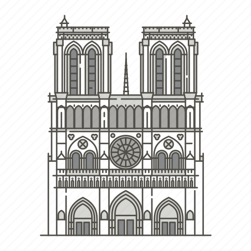 cathedral, dame, famous, landmarks, notre, world icon