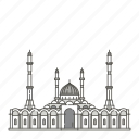 astana, famous, landmarks, mosque, nur, world