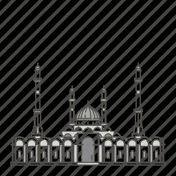 astana, famous, landmarks, mosque, nur, world icon