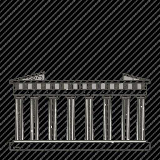 athens, famous, landmarks, of, parthenon, world icon