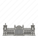 building, famous, landmarks, reichstag, world