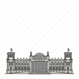 building, famous, landmarks, reichstag, world icon