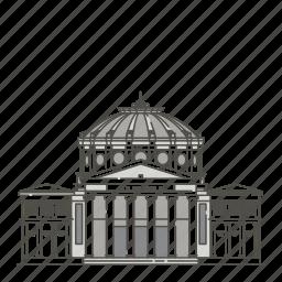 athenaeum, famous, landmarks, romanian, world icon