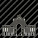 arch, augusta, famous, landmarks, rua, world icon