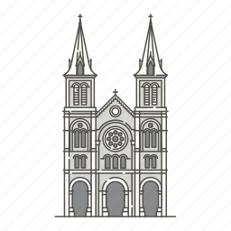 basilica, dame, famous, landmarks, notre, saigon, world icon
