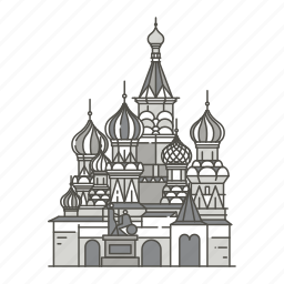 cathedral, famous, landmarks, moscow, sant, vasily, world icon