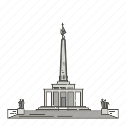 bratislava, famous, landmarks, memorial, slavin, world icon