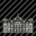 basilica, famous, landmarks, peters, st, world icon