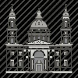 basilica, famous, landmarks, st, stephens, world icon