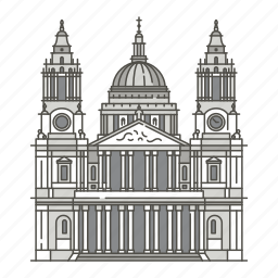cathedral, famous, landmarks, pauls, st, world icon