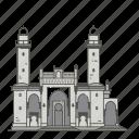 famous, landmarks, mosque, pir, taza, world icon