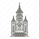 cathedral, famous, landmarks, orthodox, timiroara, world icon