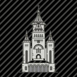 cathedral, famous, landmarks, orthodox, timiroara, world icon