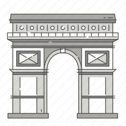 arch, famous, landmarks, triumphal, world icon