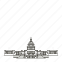 capitol, famous, landmarks, states, united, world icon