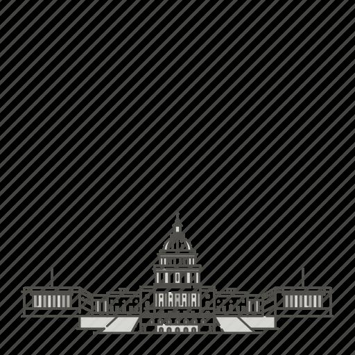 capitol, famous, landmarks, states, united, world icon