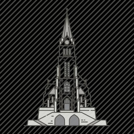 cathedral, famous, landmarks, vaduz, world icon