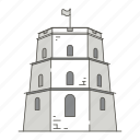 famous, gediminas, landmarks, tower, vilnius, world icon