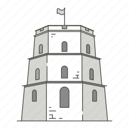 famous, gediminas, landmarks, tower, vilnius, world icon