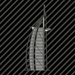 arabs, burj, famous, landmarks, the, tower, world icon