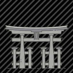 famous, gate, landmarks, torii, world icon