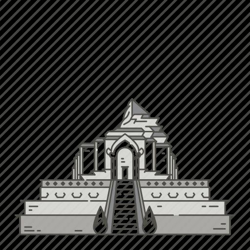 chedi, famous, landmarks, luang, wat, world icon