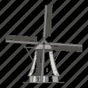 windmills, of, landmarks, famous, world, kinderdijk
