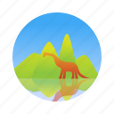 dinosaur, ecology, jurassic, nature icon