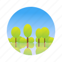 green, nature, park, tree icon