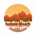 landscape, maple, tree, view icon
