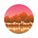 forest, maple, nature, trees icon