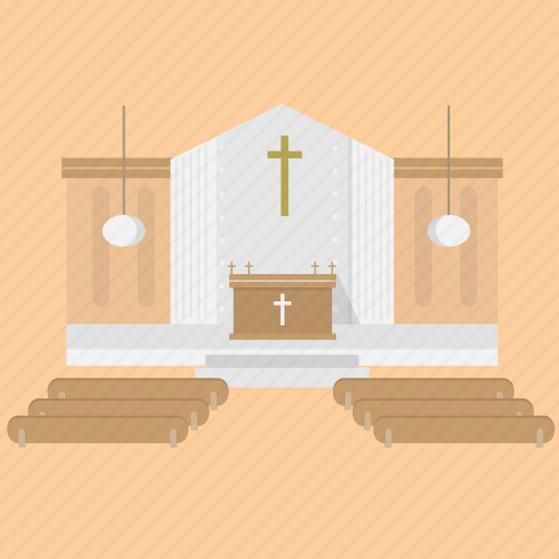 building, christian, church, interior, religion icon