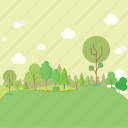 cloud, forest, garden, tree icon