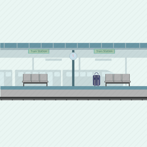 bag, suitcase, train station, transport, travel icon