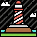 landscape, land, terrain, lighthouse, sea