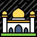 landscape, land, terrain, mosque, religion