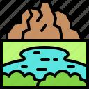 landscape, land, terrain, lake, mountain