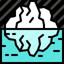 landscape, land, terrain, iceberg, sea, ice