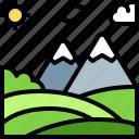 landscape, land, terrain, valley, mountain