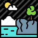 landscape, land, terrain, cliff, sea