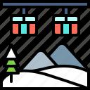 landscape, land, terrain, snow, aerial lift