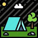 landscape, land, terrain, tent, camping