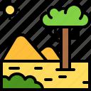 landscape, land, terrain, desert, sand