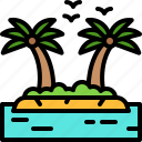 landscape, land, terrain, island, palm