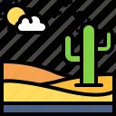 landscape, land, terrain, desert, sand, dune, cactus
