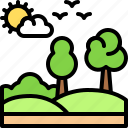 landscape, land, terrain, tree